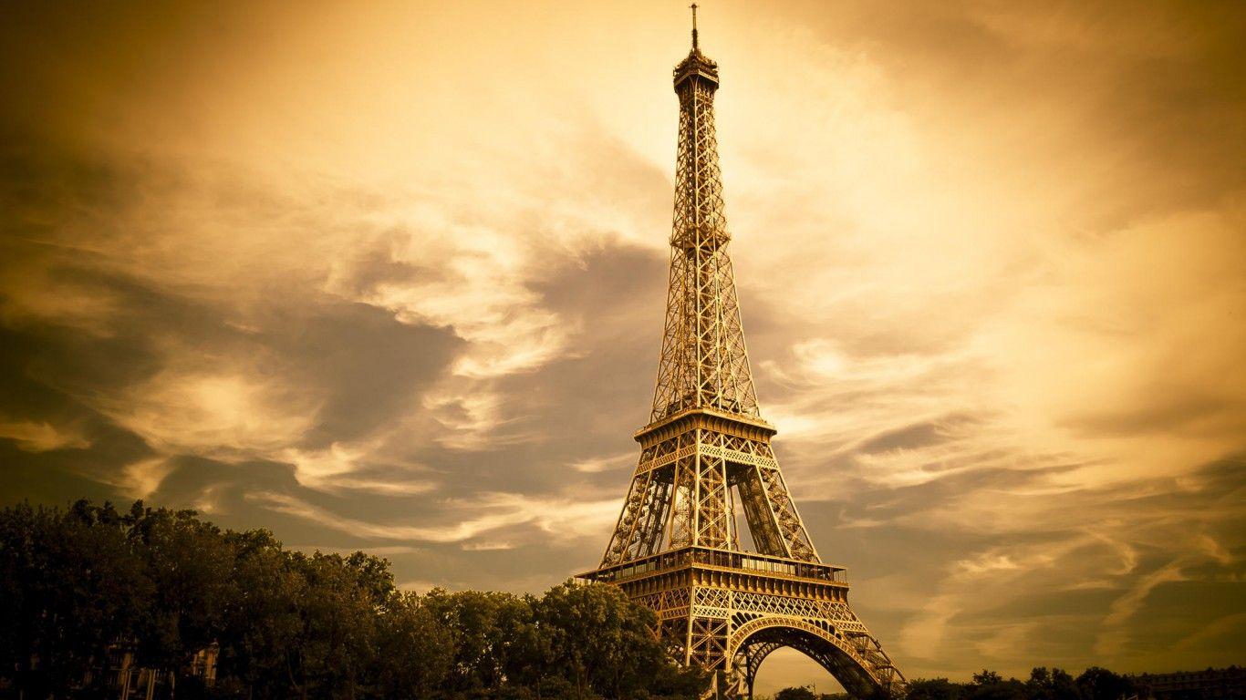 Image result for eiffel tower golden color