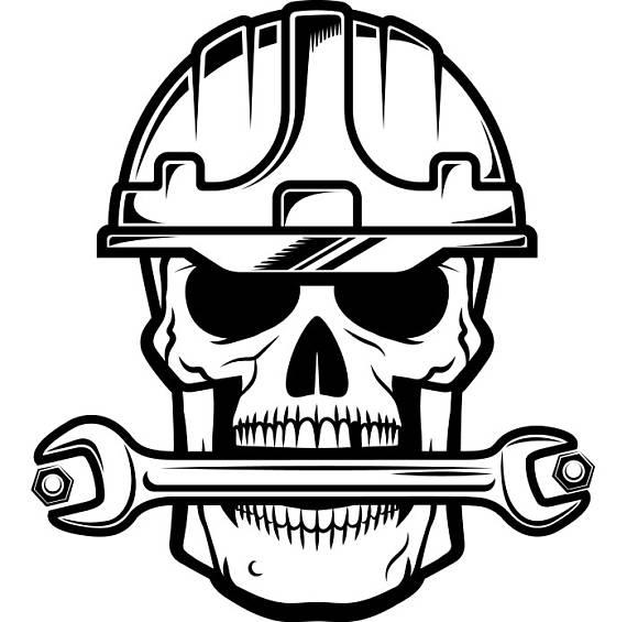 Construction Skull 1 Wrench Bolt Tool Toolbox Handyman