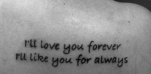 I Love You Forever I Like You For Always Quote Classy This Is A Line From A Children's Book My Mom Would Read To Me