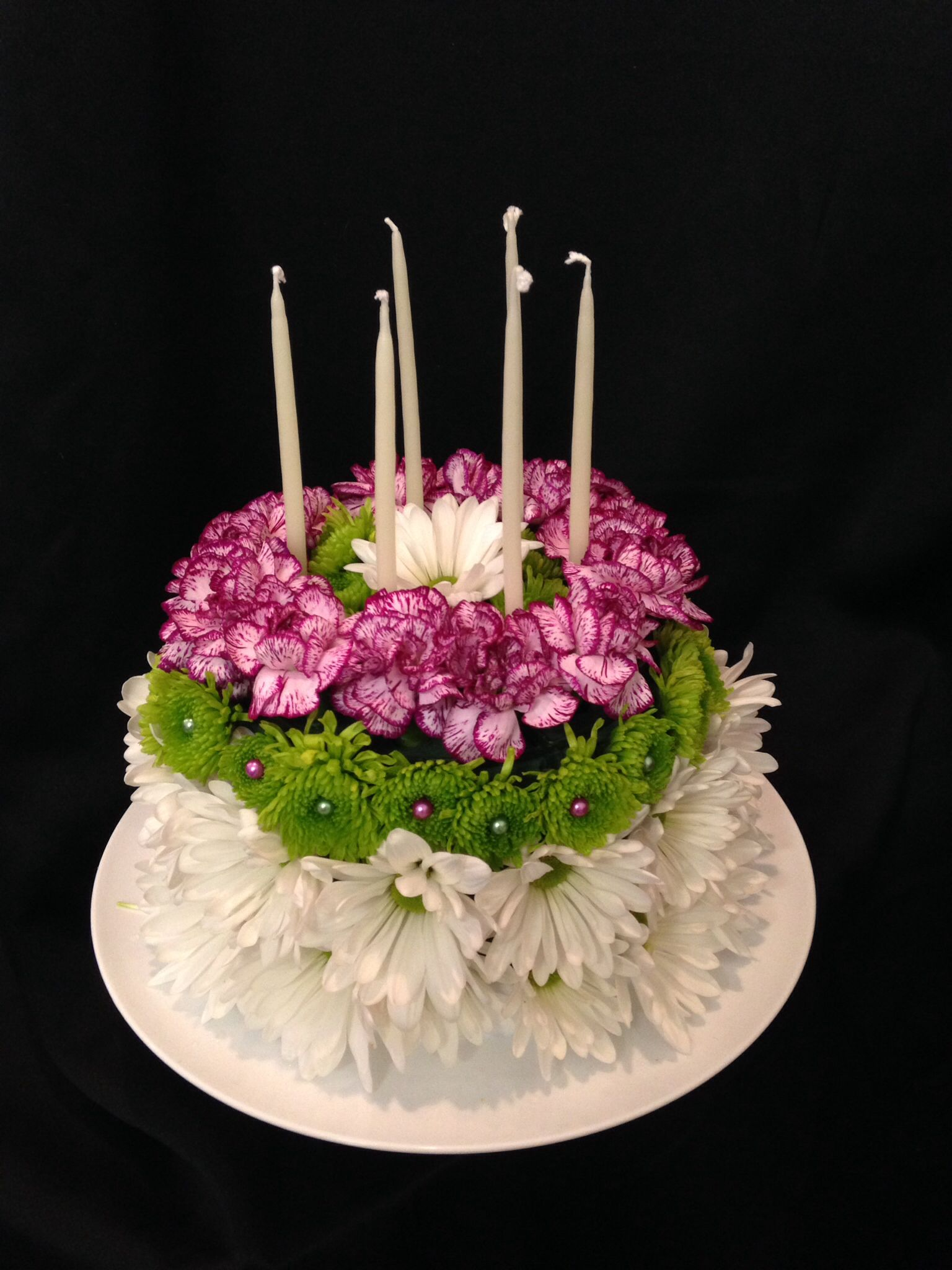 Terrific Our Birthday Cake Made With Flowers Call Today Order Yours Funny Birthday Cards Online Alyptdamsfinfo