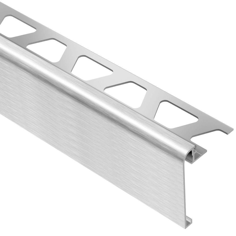 Best Schluter Rondec Step Brushed Chrome Anodized Aluminum 3 8 In X 8 Ft 2 1 2 In Metal Tile 400 x 300