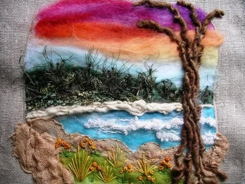 beach scene, Tina Meng  Lange Nadel