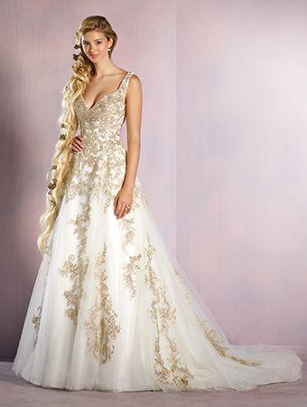 Alfred Angelo Disney Fairy Tale Weddings Bridal Collection 255 Rapunzel A Line Wedding Dress