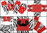 Zebra and Red Minnie: Free Printable Boxes.