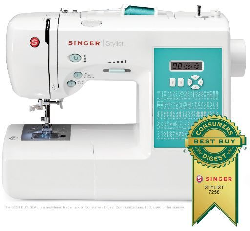 Singer Sewing Machine, SINGER 7258 STYLIST SEWING MACHINE WITH INSTRUCTIONAL DVD AND MORE ~  SALE FOR $129.99!!! #Want #sewing #Amazon #sale