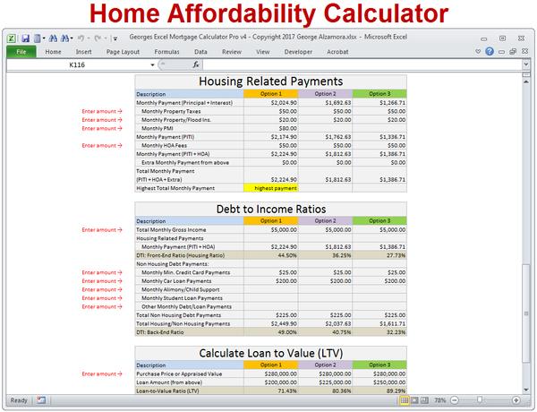 Georges Excel Mortgage Calculator Pro V4 0 Mortgage Amortization Calculator Mortgage Amortization Mortgage Calculator