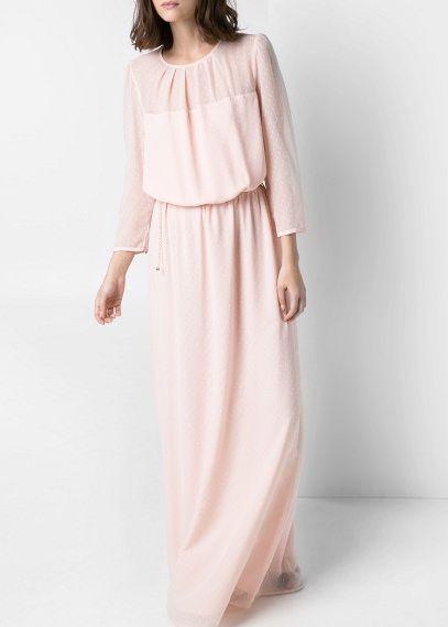 ajuste clásico 2019 auténtico modelos de gran variedad Vestido largo plumeti rosa palo de Mango 89,99€ | Invitadas ...