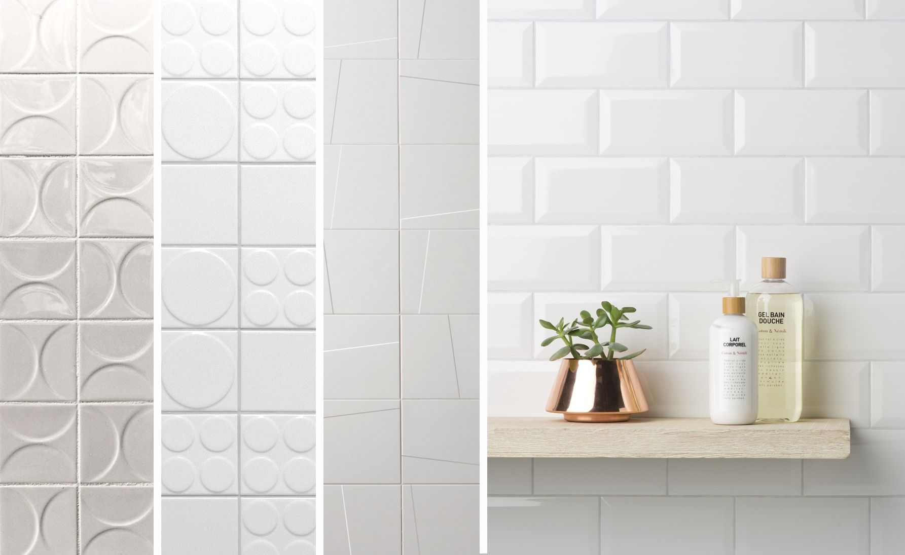 4 Eye-Catching White Tiles to Use in Your Next Project | White tiles ...