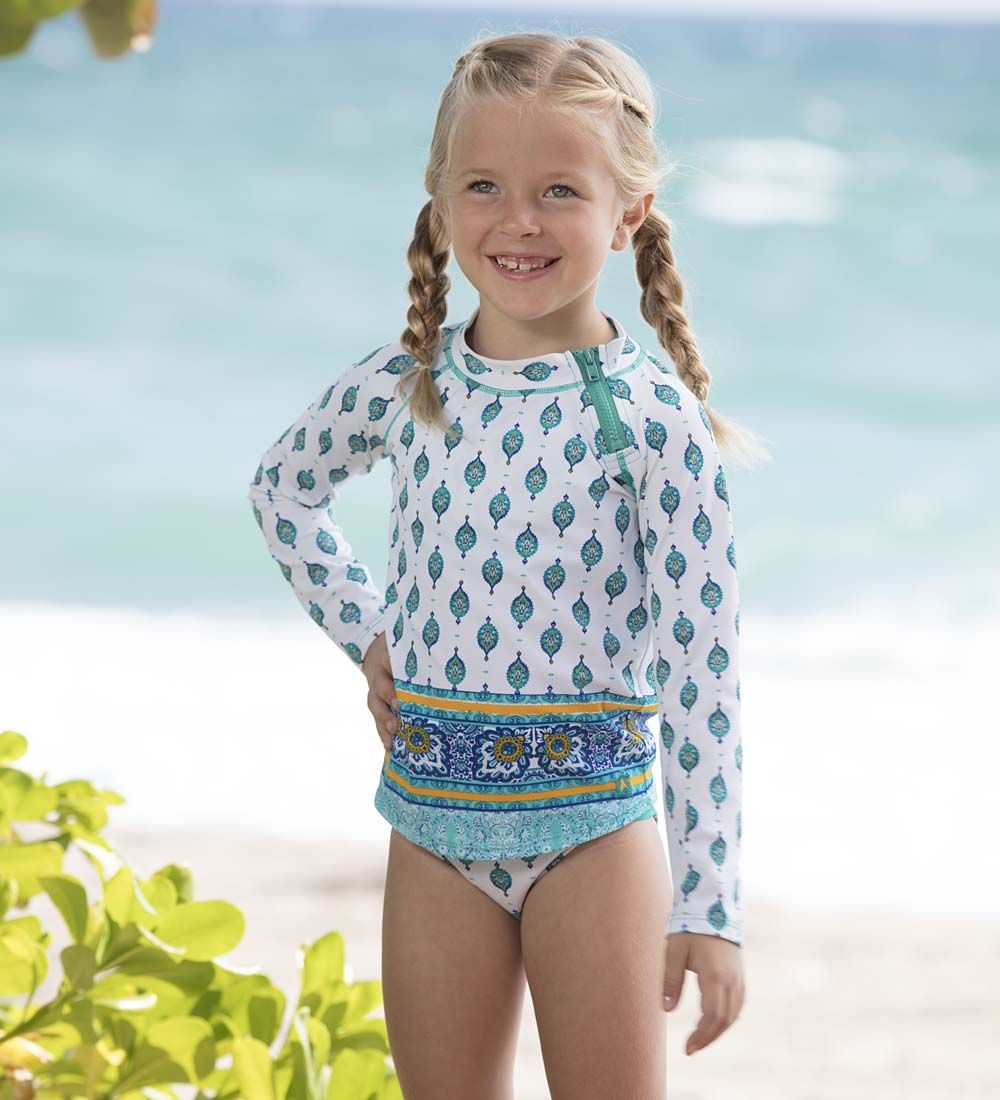 Toddler Girls Swimsuit Kids Floral Rash Guard Costume Swimwear Surfing Beachwear