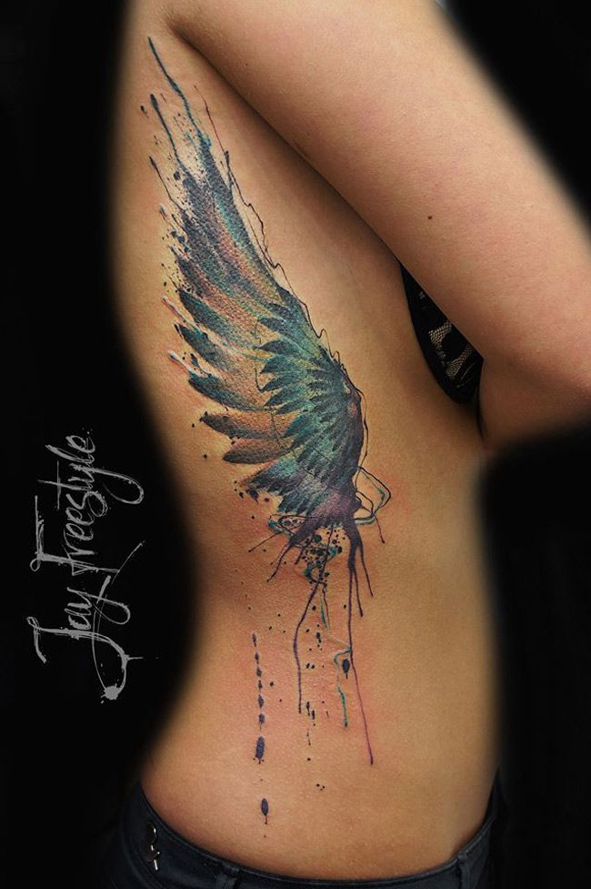 Freestyle Wing Tattoos Side Tattoos Feather Tattoos