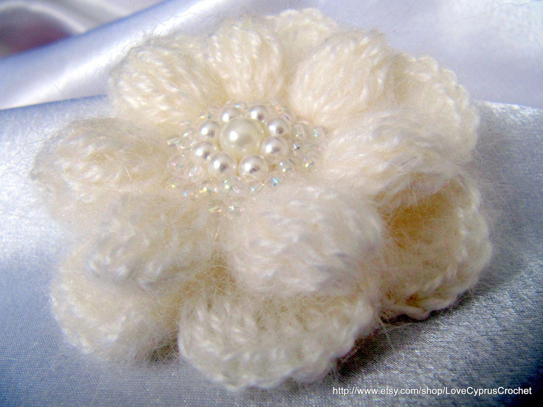 Crochet flower pattern crochet brooch pattern 3d flower diy pdf 3d crochet flower mohair brooch tutorial crochet pattern beautiful crochet 3 d flower 2 izmirmasajfo Image collections
