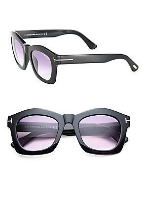 3cf06ffc8248 Tom Ford Eyewear Greta 50MM Geometric Square Sunglasses - Black-Violet