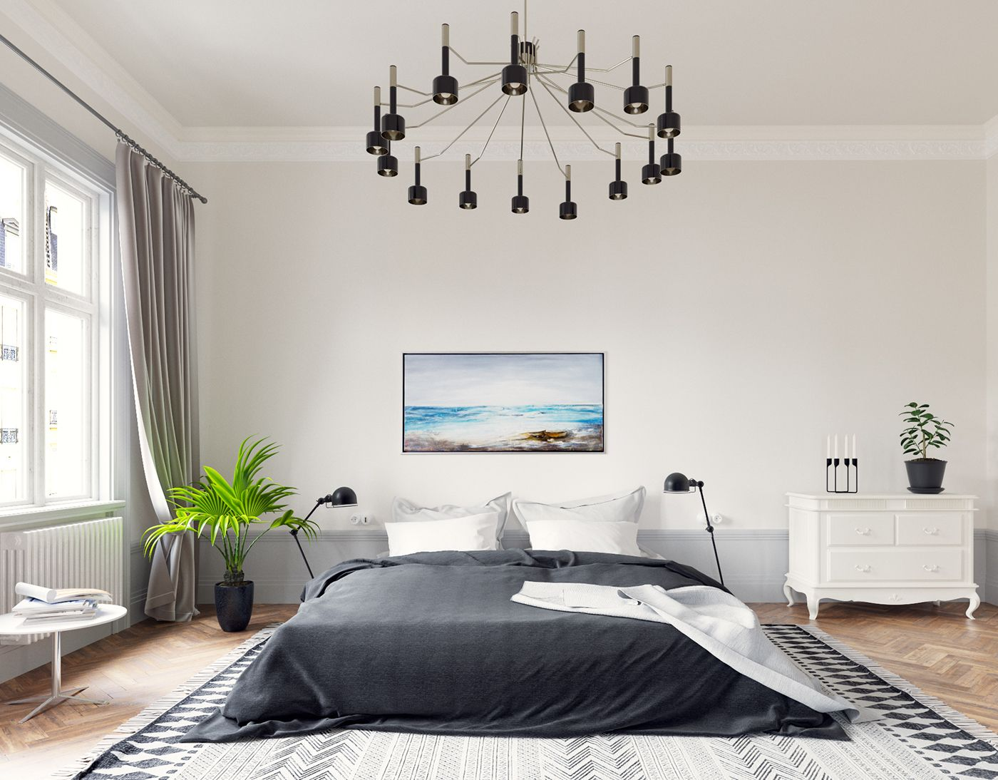 Modern Classic Bedroom Design Ideas Mesmerizing Stunning Modern Classic Bedroom Design With Dazzling Lighting Design Inspiration