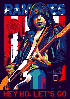 JOHNNY RAMONE by ICAL SAID WPAP | metal posters - Displate | Displate thumbnail