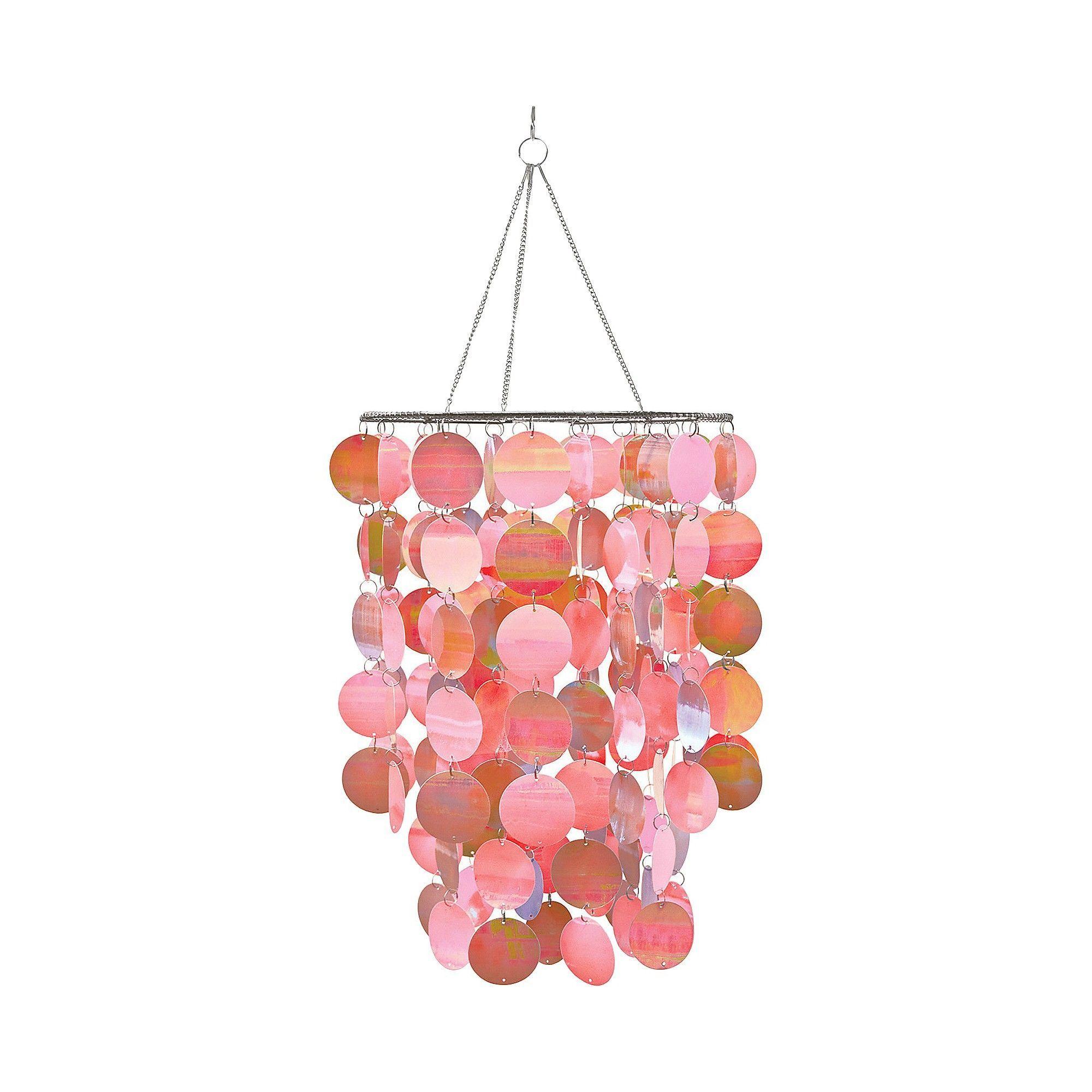 Wallpops Chandelier Pearlscent Pink Gray Pink Chandelier