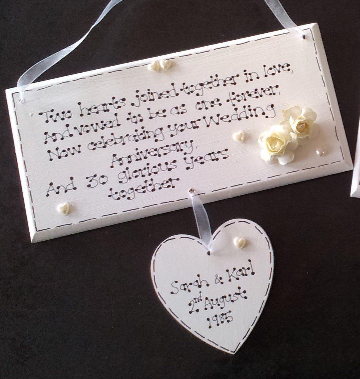 Personalised 30th Wedding Anniversary, Pearl Wedding