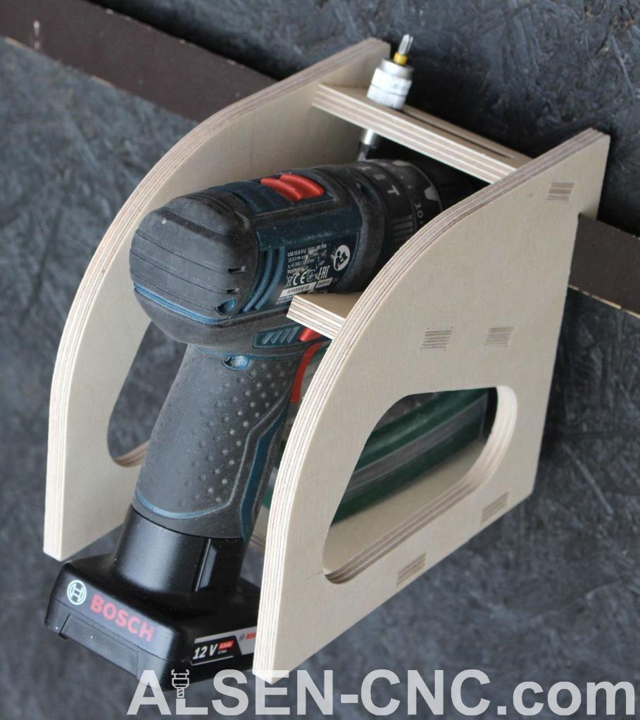 Photo of French Cleat – Cordless screwdriver holder in Schleswig-Holstein – Rickert | DIY …