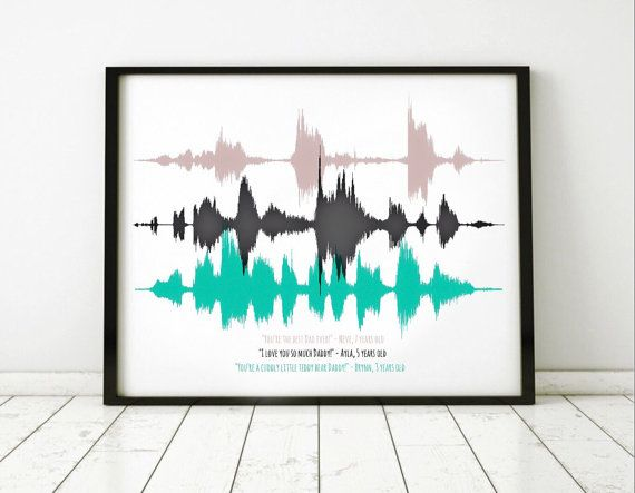 f48fd4060a99 Custom Sound Wave Art on Canvas, Mother's Day Gift, Father's Day Gift,  Grandparent Gift, Sound Wave Art Print, Custom Soundwave, Voice Art