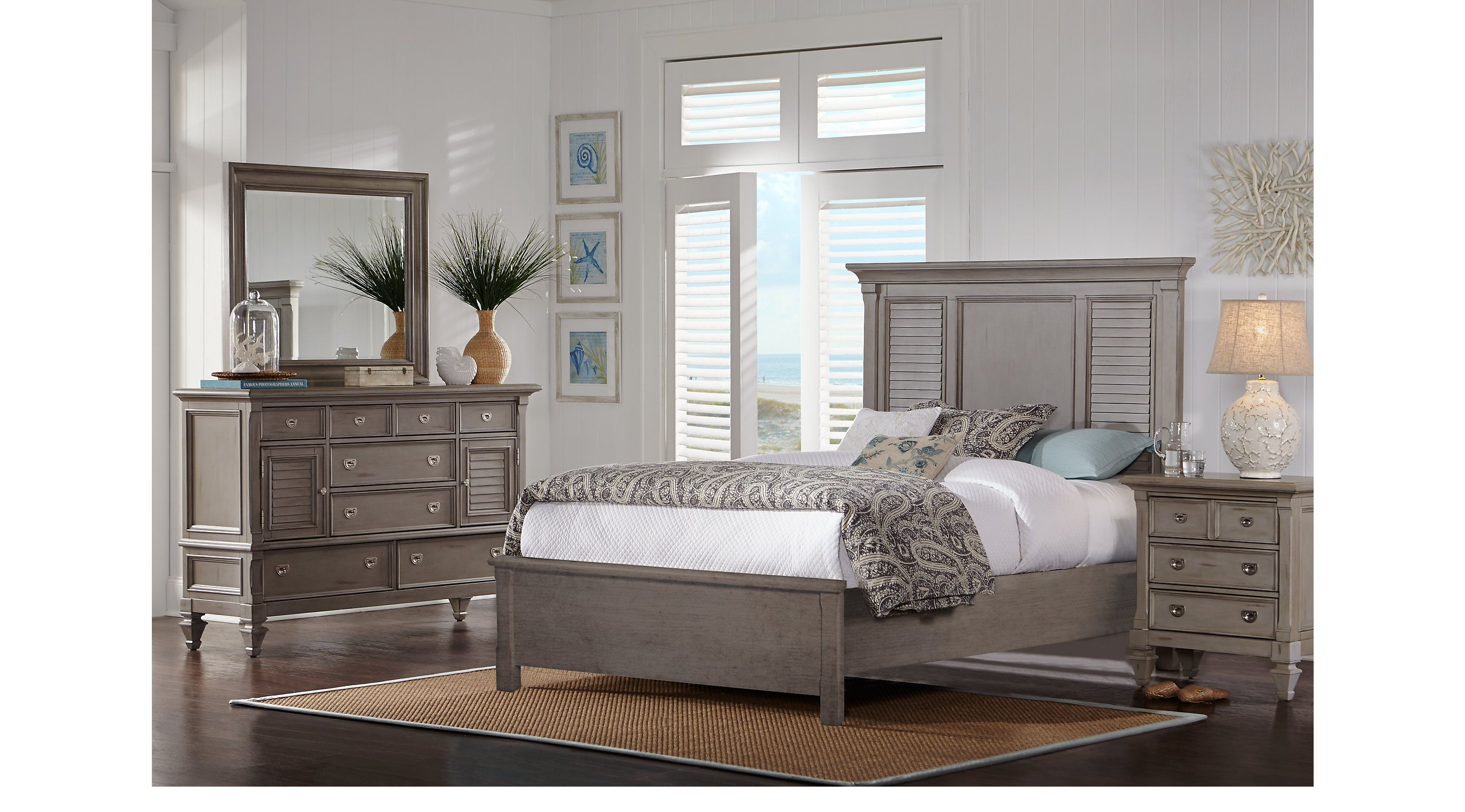 Belmar Gray 5 Pc Queen Bedroom Panel Traditional Bedroom