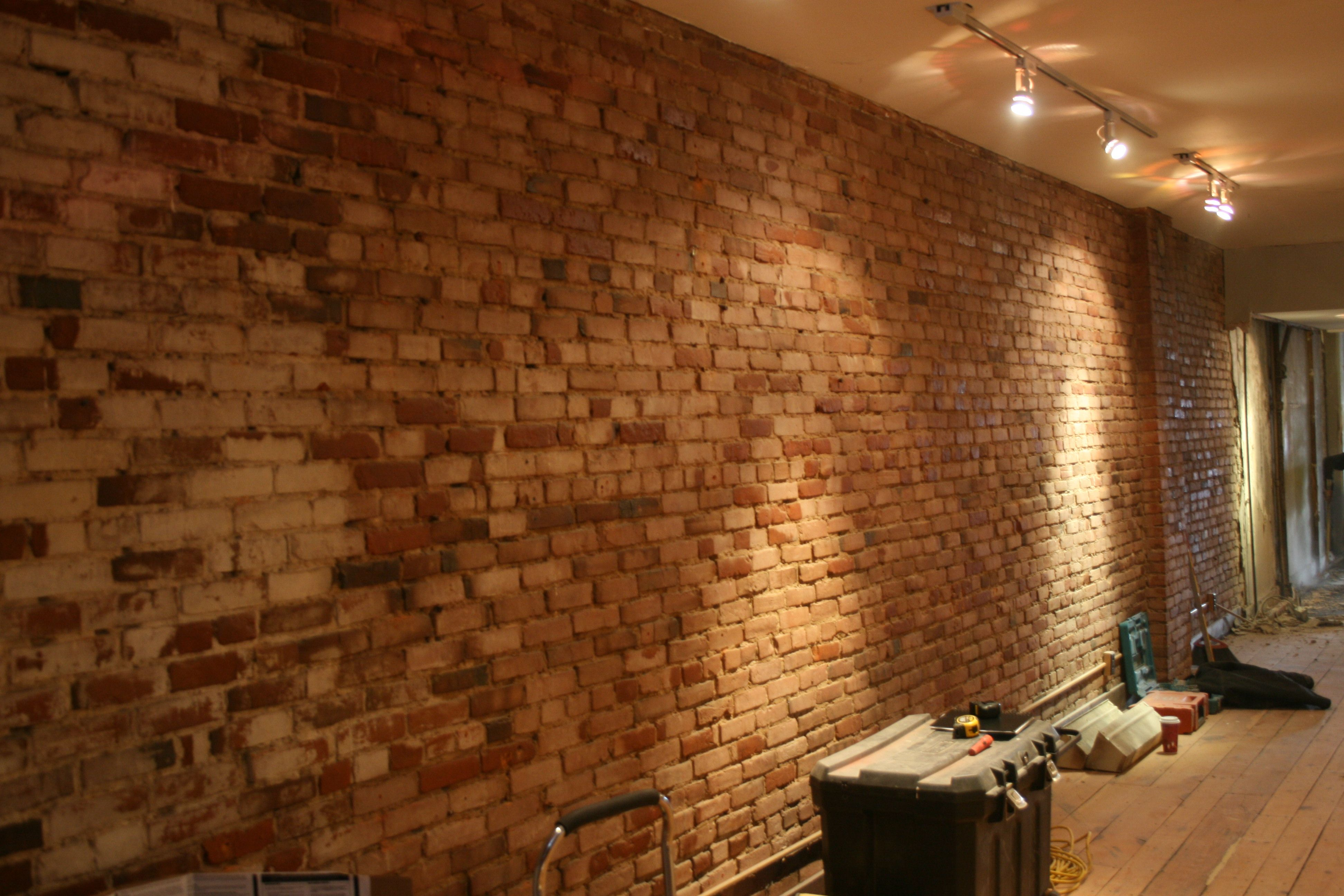 All The Dry Wall Plaster And Lathe Is Down Exposing Vintage Red Brick Walls And Earthen Textures Red Brick Walls Brick Wall Red Bricks
