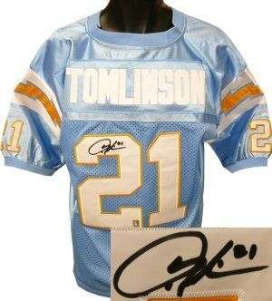 new arrival 3d84c a02ac Ladainian Tomlinson signed San Diego Chargers Light Blue ...
