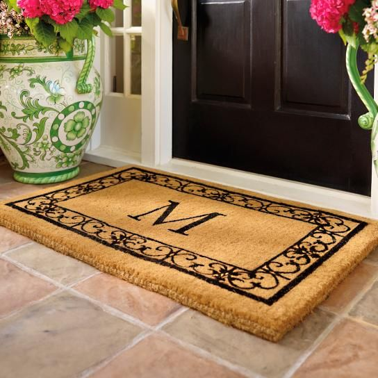 m banner mats monogrammed door doormats quality collections buy doormat shopify