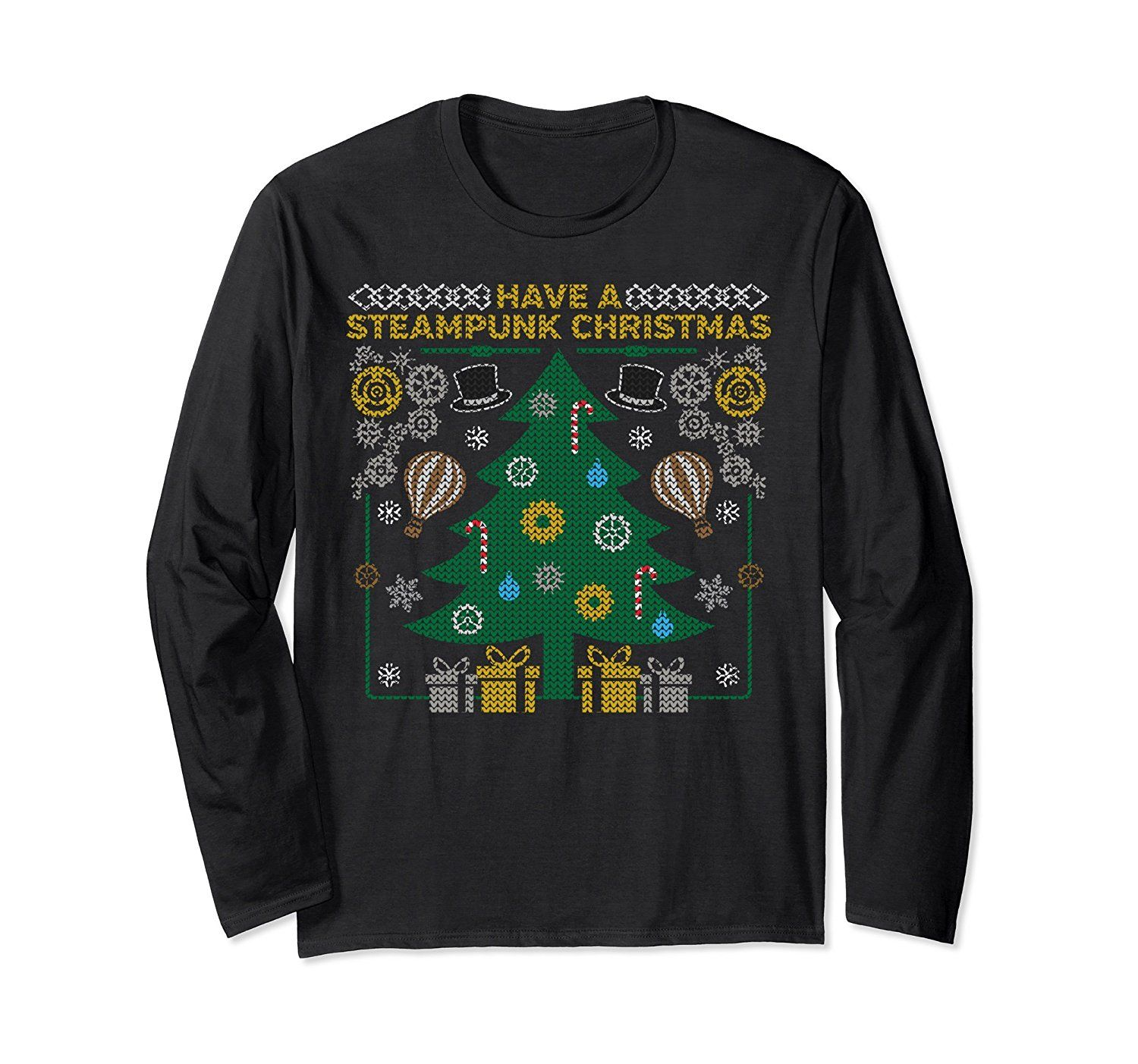 Steampunk Ugly Christmas Sweaters and T-Shirts for Men, Women & Kids ...