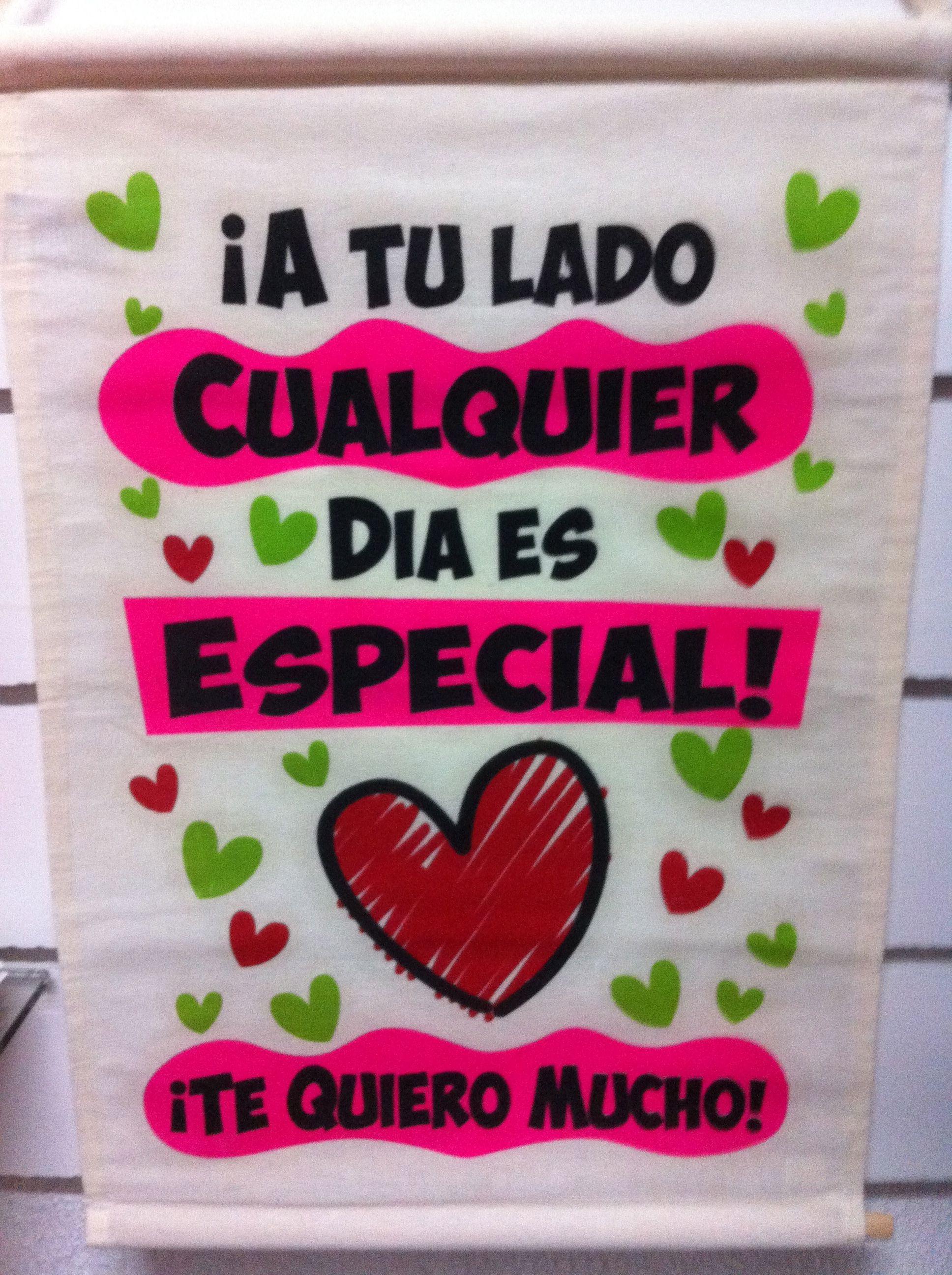 Letrero impreso en manta regalos amer comparte amor - Regalos para el cumple de tu madre ...