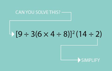 Brush up on your math skills and simply the problem above! Check ...