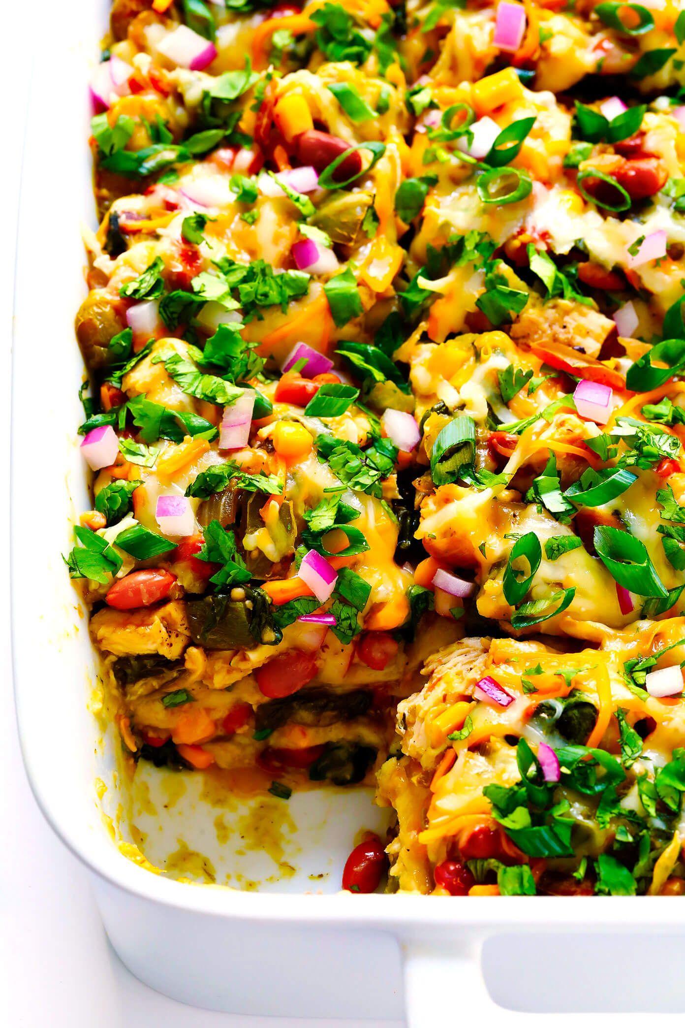 Verde Chicken Enchilada Casserole images