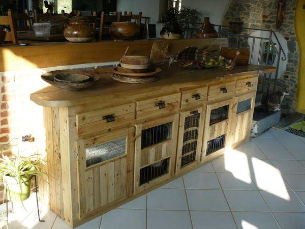 Palettes en bois id es de bricolage de meubles cuisine for Recherche meuble de cuisine