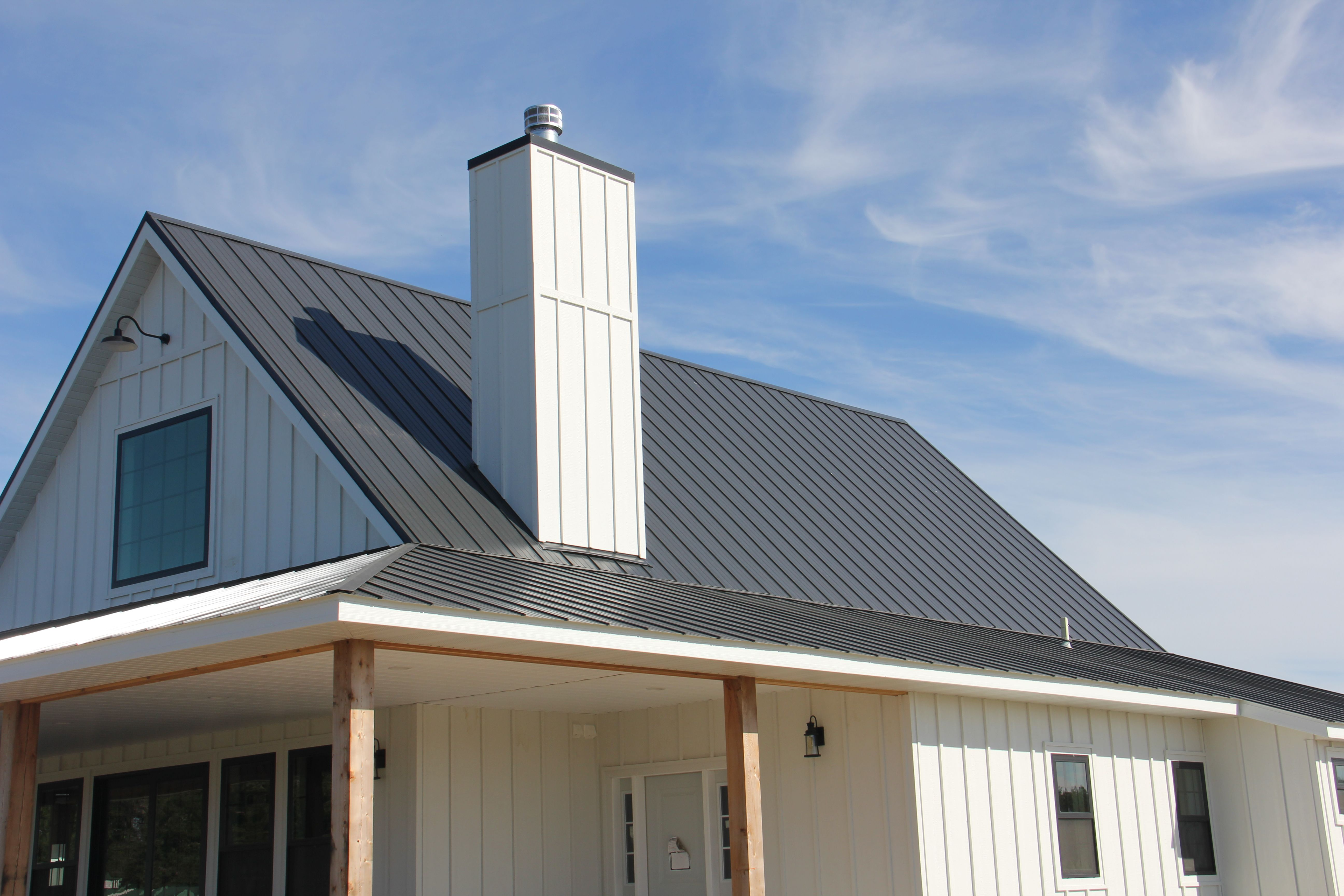 This Distinctive Black Pro Snap Roof Will Stand The Test Of Time While Saving Energy Costs Residential Steel Roofing Steel Roofing Steel Siding