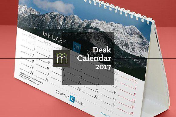 Desk Calendar 2017 (DC13) by mikhailmorosin on @creativemarket
