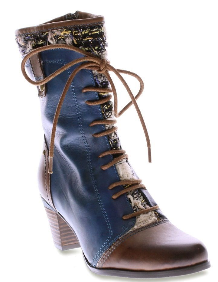 Spring Step Womens Blue Multi Boots Quintus