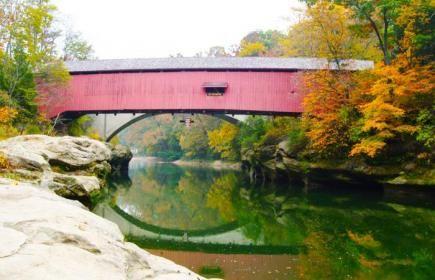 Covered bridge, Parke County, Indiana