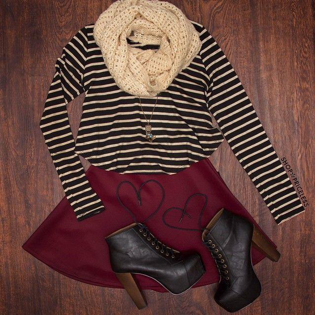 Brinley Striped Top #Fashion #stripes #ootd #style #ShopPriceless