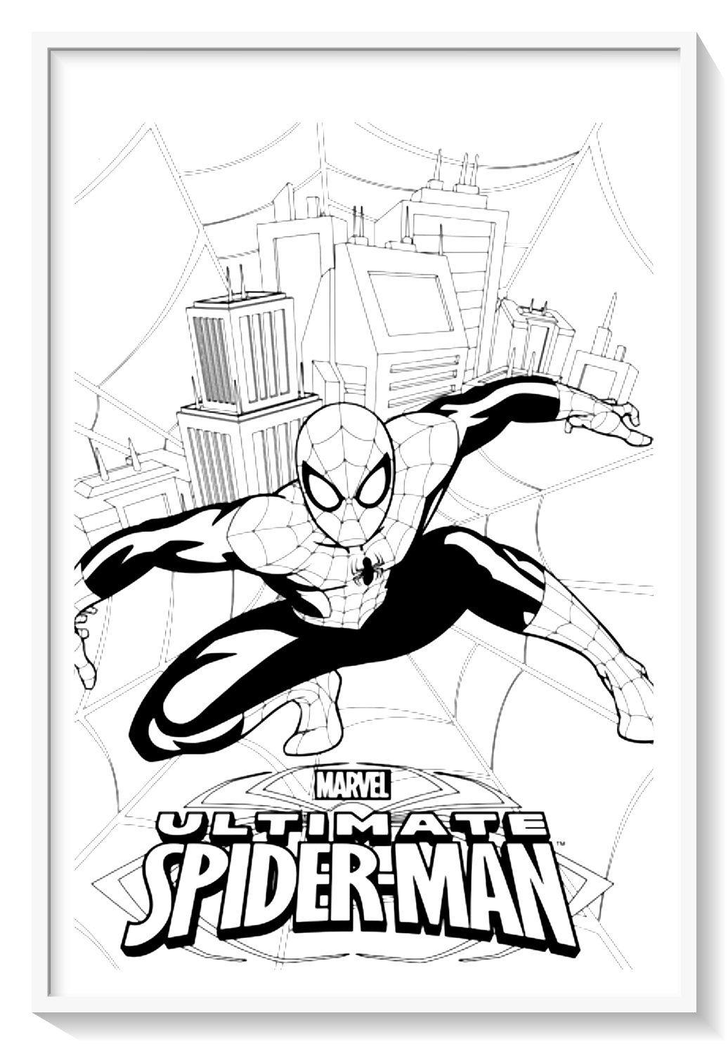 Épinglé sur Dibujos de SPIDERMAN (Hombre Araña) para Colorear