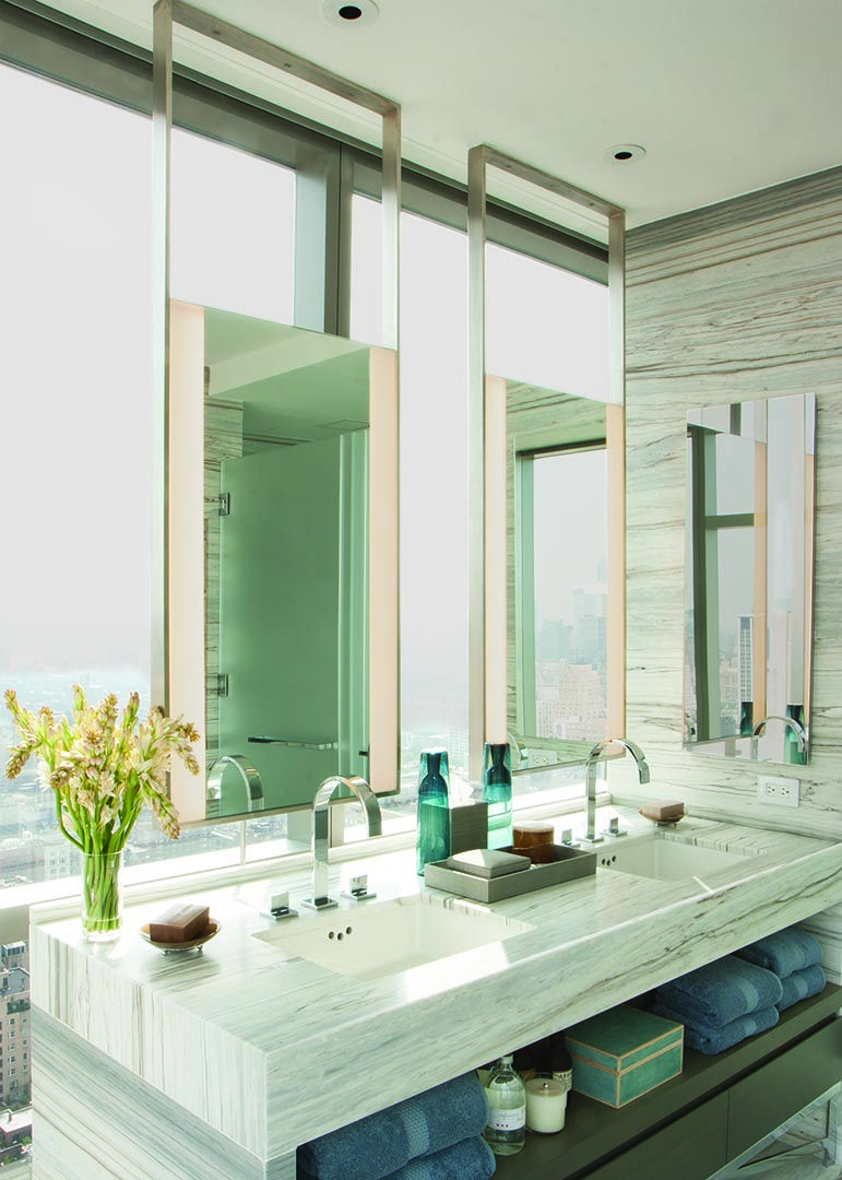 The one madison mirror is an honoree in the interior design