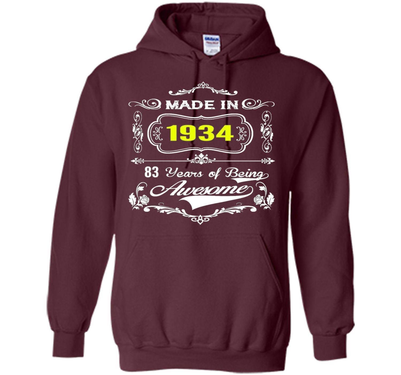 Made In 1934 Tshirt 83th Birthday 83 Years Gift