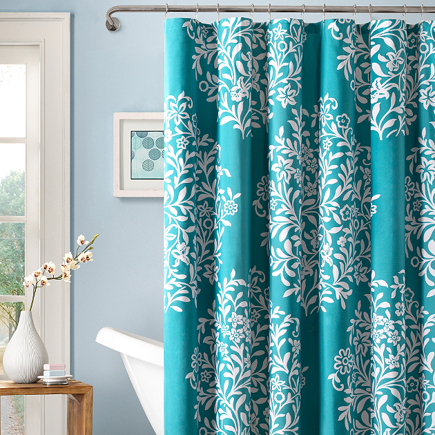 Spruce Up Your Bathroom Rotator Rod Shower Rod With Springtime Shower Curtains Colorful Shower Curtain Designer