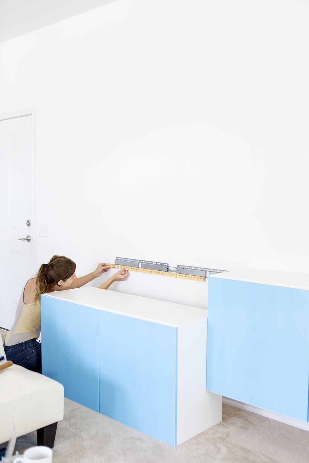 Genial How To Install Wall Mounted IKEA Besta Cabinets