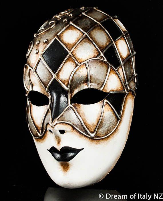 Venetian Masquerade Mask Volto Ibiz Black #Italian #style #design #home #wall #decoration