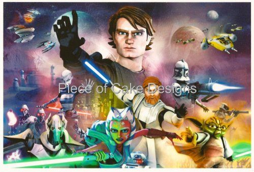 14 Sheet  Star Wars Clone Wars Anakin Birthday  Edible Image CakeCupcake Topper * Check out this great product.