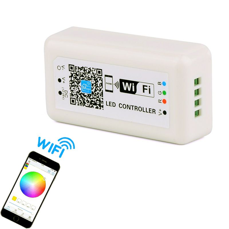 Wireless Rgb Led Controller Wifi Led Dimmer Switch For Led Strip Light 12v 24v By App Iphone Android Remote Con Led Dimmer Switch Led Controller Android Remote