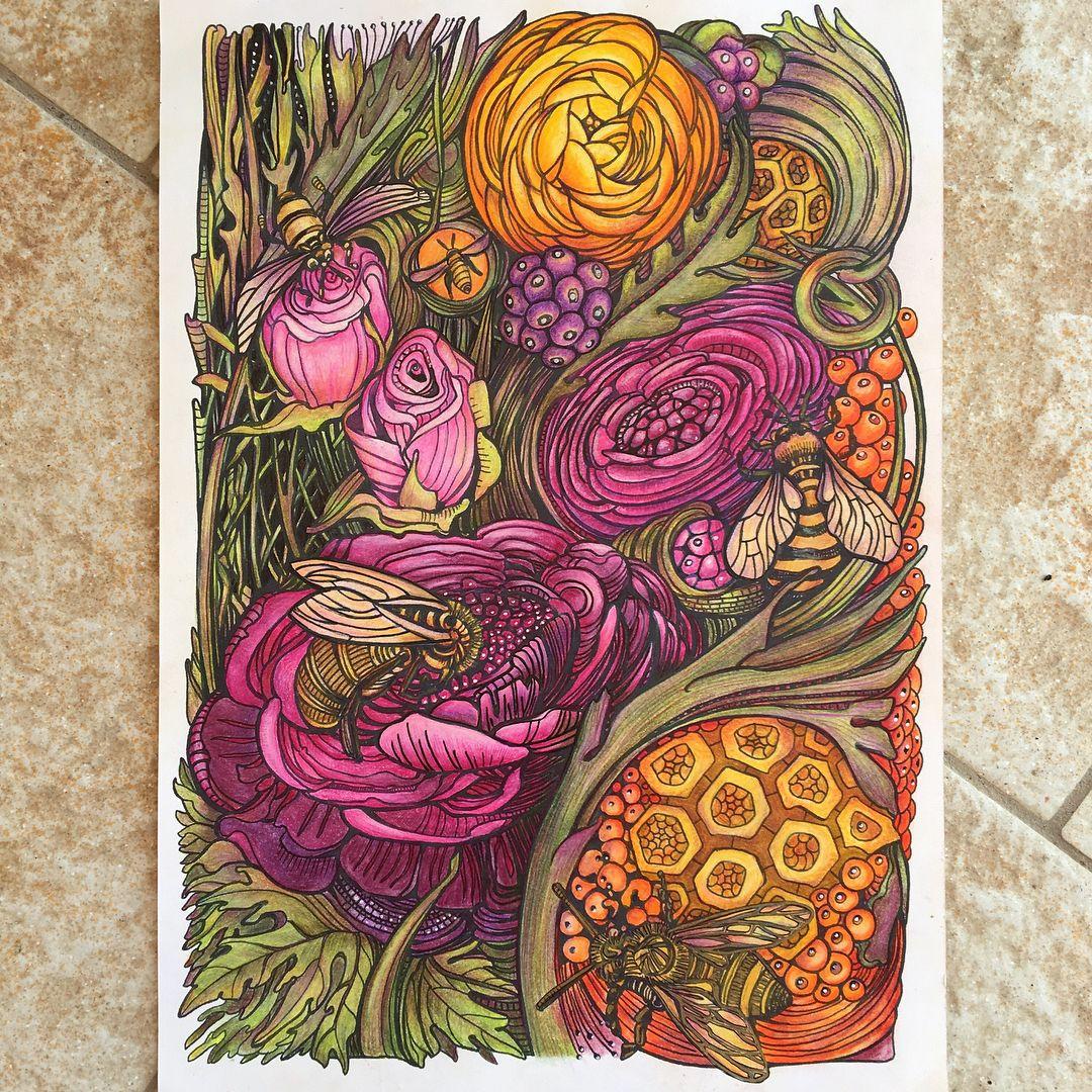 """Завораживающие узоры из """"Мания Ботаника"""". #узоры #цветы # ..."""