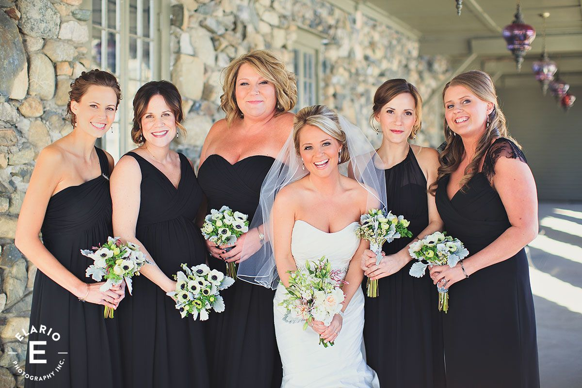 Bridesmaids weddings black bridesmaid dress winter wedding bridesmaids weddings black bridesmaid dress winter wedding weddings bridesmaids winterwedding ombrellifo Image collections