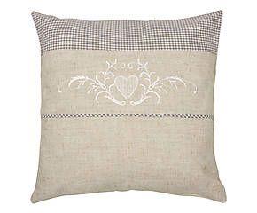 Cuscino arredo con ricami decor Dama - 40x40 cm