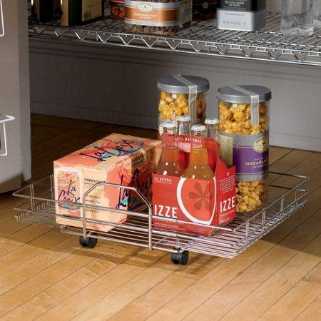 Chrome Roll Out Floor Shelf Floor Shelf Canned Good Storage Shelves