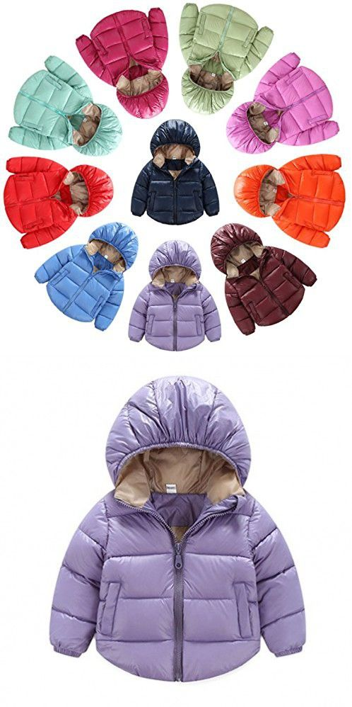 588fbeaa9 Toddler Baby Boys Girls Outerwear Hooded coats Winter Jacket Kids ...