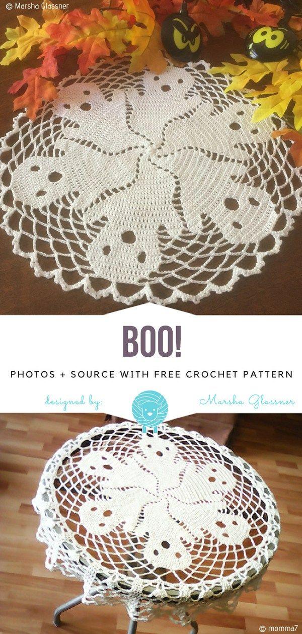 Boo! Free Crochet Pattern   Crochet   Pinterest   Ganchillo, Croché ...